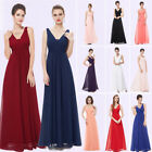 Ever-Pretty US V-Neck Long Bridesmaid Dresses Sleeveless Eve