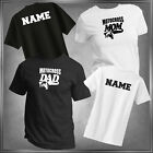 Motocross Mom or U-Decide Family & Personalize Back T-Shirt Adult Sizes XS-6XL