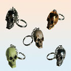 Keychain Skull and crossbones metallic gold coloured silver colored selection
