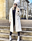 Topshop Bonded Knit Minimalist Wool Oversized Trench Drop Jacket Coat 4 - 16 New