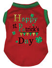 Green Red Top T-Shirt Happy St.Patrick's Day Pet Cat Dog Puppy One Piece Clothes