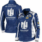 Dale Earnhardt Jr. Women's Blue Pit Full-Button Jacket