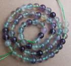 4mm 6mm 8mm 10mm 12mm 14mm Natural Fluorite Round Loose Beads 15.5""