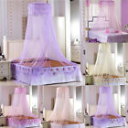 Cotton Round Dome Princess Bedding Hanging Canopy Mosquito Net Girl Kids Bedroom image