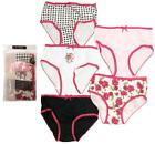 Girls PACK OF 5 Gingham Rose Briefs Knickers Cotton Pants Underwear 2 to 5 Years