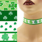 St Patrick's Day Choker 7/8 inch (22 - 23 mm) necklace Shamrocks Lucky Irish +
