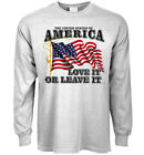 Long sleeve t-shirt USA love it or leave it American pride US flag America first image