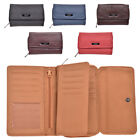 Genuine Leather Purse with Card Swing Section and Coin Section - RFID Blocking