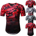 Men's Slim Fit Tops Blouse O Neck Short Sleeve Muscle Tee Shirts Casual T-shirt $10.99 USD on eBay