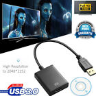 USB 3.0 To HDMI Audio Video Adaptor Converter Cable For Windows 7/8/10 PC 1080P