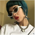 Trendy Women Small Cat Eye Sunglasses Fashion Shades Eyewear Side Scrap Frame