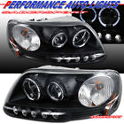 Pair Black Halo Projector Headlights w/ LED for 97.8-03 F-150 / 97-02 Expedition