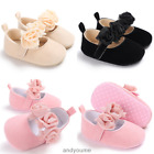 Soft Sole Baby Shoes Girl Infant Toddler Gift Crib Rose Flower Shoes 0-18 Months