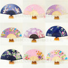 Chinese Bamboo Folding Hand Fan with Flowers for Wedding/ Gift On Sale