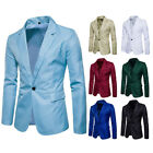 Men Slim One Button Match Business Cotton Blend Breathable Jackets Blazer Suits
