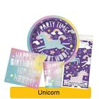UNICORN Birthday Party Tableware, Banners, Balloons & Decorations (UNIQUE) 1C