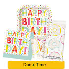 DONUT PARTY Birthday Party Tableware, Banners, Balloons & Decorations (UQ) NEW!!