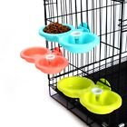 Small Dog Dual Bowl Feeder Feeding Food Water Drinking Pet Cat Dispenser Fixed