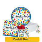 CONFETTI BASH Birthday Party Tableware, Banners, Balloons & Decorations (1C)