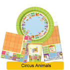 CIRCUS ANIMALS BABY SHOWER Tableware, Banners, Balloons & Decorations (UQ)