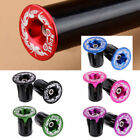 2pcs Aluminum Alloy Handlebar Grips Bar End Plugs Cap For MTB Road Bike Cycling