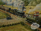 THE CROSSING VINTAGE STEAM TRAIN SCENE   METAL SIGN: SIZES TO CHOOSE FROM