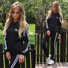 Women O Neck Long Training Suits Trousers Sweatshirt Sportswear 2 EN24H 01