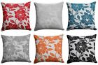 """Peony Flower Cushion Cover Luxury Floral Chenille Cushion Covers 18"""" x 18"""""""
