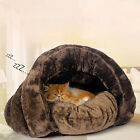 Luxury Cat Dog House Puppy Cave Pet Sleeping Bed Mat Pad Igloo Nest Warm House
