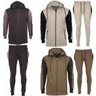 New Mens Top Bottom Full Sports Jogging Hooded Slim Fit Gym Tracksuits Joggers