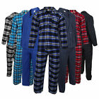 Mens Location Traditional Cotton Flannel PJ Pyjama Set PJ's Pyjamas Sizes S-4XL