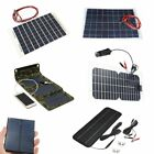 5/6/12/18V Portable Solar Panel Battery Charger Off Grid For Phone Car RV Boat