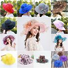 Women's Summer Church Kentucky Derby Cap British Tea Party Wedding Sun Hat US