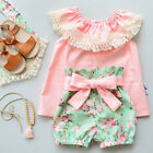 baby boutiques in shreveport la - Boutique Kids Baby Girls Lace Flowers Off Shoulder Top Shorts Outfits Clothes US