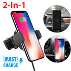 Qi 360° Wireless Fast Charger Car Holder Charging Mount for iPhone 8 X Samsung