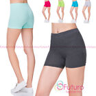 Damen Super Weich Baumwollshorts Elastischer Stretch Yoga Sport Schlüpfer UK