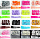 500 Color Acrylic French False Nail Tips 16x Color 441X