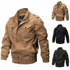 Mens Vintage Jacket Pilot Bomber Combat Coat Air Force Flight Army Jackets