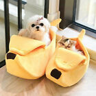 Pet Dog Cat Bed Cute Banana Fluffy Warm Soft Plush Home Bed Nest Yellow S,M,L US