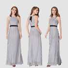 Ever-Pretty Long Evening Dresses Striped Vintage A-Line Party Ball Gown 07289