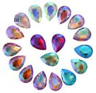 80PCS/20Pcs Mixed Colors AB Pointed Teardrops Fancy Glass Stones (Various Sizes)