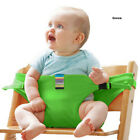 US STOCK Portable Baby High Chair Booster Safety Seat Strap Harness Seat Belt P