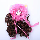 Big Flowers Princess Hair Clip With Curled Wigs For Children