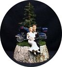 Wedding Cake Topper W/ Sexy Harley Davidson mountain Motorcycle Groom Top Nature $89.1 USD on eBay