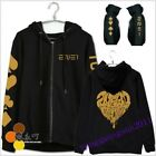 New Fashion 2NE1 kpop CL DARA BOM PARK MINZY unisex zip hoodie sweater Coat girl