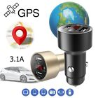 Car Charger SPY GPS Tracker Locator Real Time Tracking Dual USB LCD Voltmeter $5.32 USD on eBay