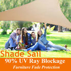 Outdoor Sun Shade Sails Canopy Patio Garden Awning Shelter With Rope PE Cloth