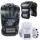 MMA UFC Boxing Gloves Grappling Sparring Boxing Fight Punch Mitts Leather