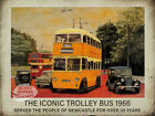 NEWCASTLE  VINTAGE TROLLEY BUS METAL SIGN: UNIQUE GIFT CHOOSE YOUR OWN SIZE