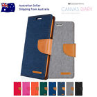 Card Slot Canvas Wallet Case For Samsung S9 Plus S8 S7 / Edge S6 / S5 Note 8 5